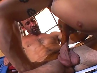 Muscle bound stud loves detect slamming