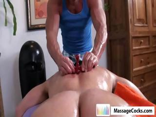 Studly masseuse gives happy-go-lucky boy Dylan a impenetrable depths palpate on every side toys