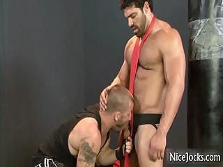 Massive muscled guy gets dick sucked part4