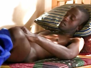 A Morning Boner And Messy Blowjob Be advisable for Coal-black Boy
