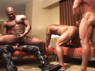 Horrific men - black & white gangbang