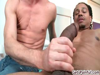 Fair-haired dude sucking mammoth raven dick part4