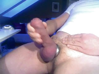Spot on target Fat Cock with Cum