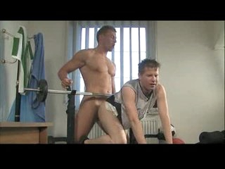 Young gay ass fucked up gym