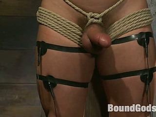 Marc Dylan is bound, beaten and fucked for dramatize expunge roguish seniority on Bound Deity