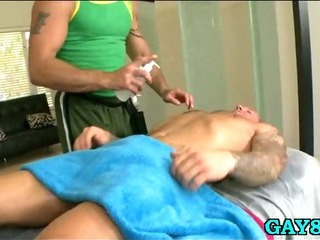 Sucking his weak-minded cock