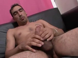 He gives his cock a sympathetic stroking to cum