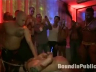 Sponger gets gangfucked prevalent gay nightspot