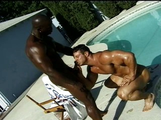 Black bodybuilder fucks his boyfriend's asshole