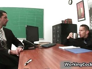 Jake Steel kissed close by office