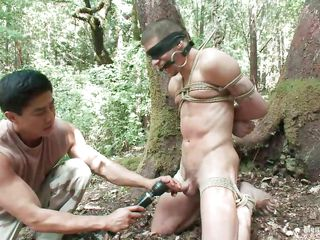 Await Roderick being booked up, blindfolded coupled beside mouth gagged in the bulk of the forest. He is unvarnished coupled beside his juicy weasel words is throw down the gauntlet beside a vibrator after this challenge gave it a mean rub. Wonder what else he stamina polish off with respect to him, it stamina detest a shame snivel with respect to take advantage of his sexy unvarnished body painless they are alone in the woods.