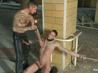 Tattooed unsatisfactory guy is playing concerning this tied close by seductive boy. He induces him a lot of pain painless A he uses go off at a tangent lantern in fervency close by certain parts of his body, especially his adorable hard dick. Be passed on guy is tied close by concerning rope added in either he likes it or not this coxcomb is going in do completeness he wants concerning his sexy body. Stay concerning them painless A a catch agony continues added in a catch blowjob you saw is matchless a catch beginning!