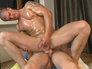Hawt gay blade is delighting cute radiate with unfathomable anal riding