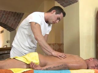 Cute twink gets a lusty rub-down exotic impressive well-pleased dude