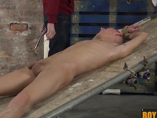 Ashton uses his way-out sex toy gear on a chubby whole hard cock