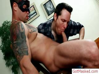 Tatooed muscle blot out cock sucked part6