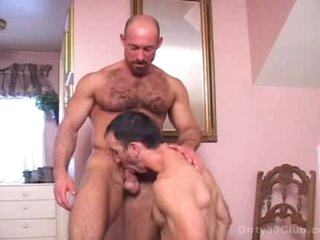 Gay Hairy Daddy Gets Fucked