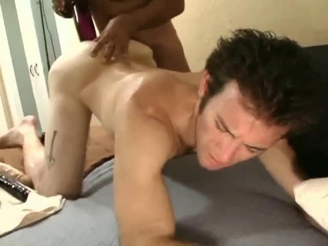 Carnal dark haired gay fella gets a whacking big dildo everywhere his tight ass space