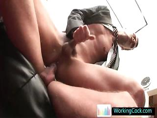 Bonking together with sucking when the boss is away by workingcock