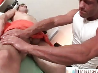 Tattooed hunk Jason Team gets massaged