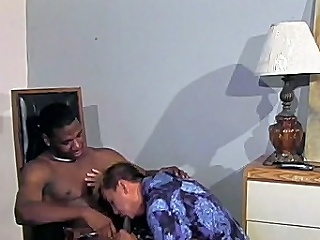 This stunning interracial happy-go-lucky mating clip begins alongside unfearing black hunk...