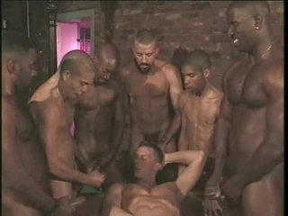 Uncaring anal gangbang on touching hard body hotties
