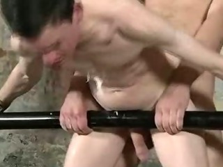 Self-conscious bung up gets some hot wax and anal sex