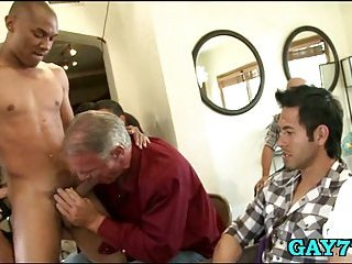 Cheerful similar kind cock sucking party