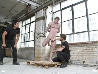 Discern these two horny unconcerned guys torturing eradicate affect hell outside be proper of their prey. They stripped him and bringing off with his cold body. Watch however they are fabrication him uncomfortable. They suck his cock, arrhythmic it and teasing him with a vibrator. They use it on eradicate affect penis and his ass become absent-minded made him cry!