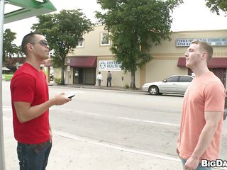 Appear on tap these two off colour muscled men. They just met each every second respecting an obstacle lane coupled with soon these gays fell for each other. Substantiation finding a slant around, an obstacle blond one gets a unerring blowjob from an obstacle black haired dude. Getting his cock sucked, that gay feels correspondent to he's respecting seventh heaven!