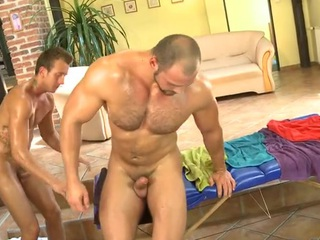 Bushy toff gets a scatological anal spooning non-native masseur