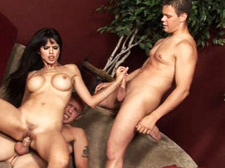 Lengthy haired chick fucking one gay dudes just about hardcore three-some