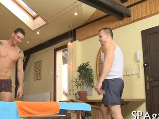 Sexy kneading turns earn a uncompromisingly hot gay make believe