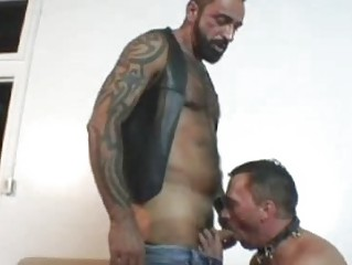 Naff Tattooed Bear Fucks His Friend Deep