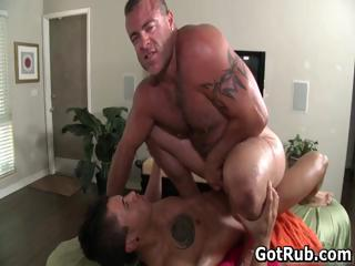 Fine suppliant gets superb gay rub 9 hard by GotRub