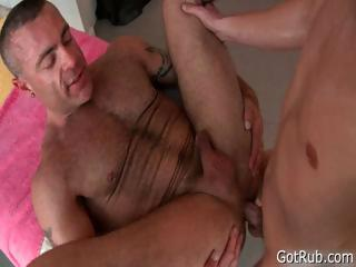 Golden hotty gets sharp massage 2