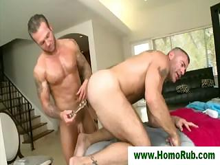 Hunk shoves dildo on every side masseurs botheration