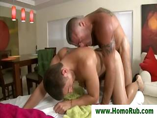 Muscular keep to jizzes straight guy