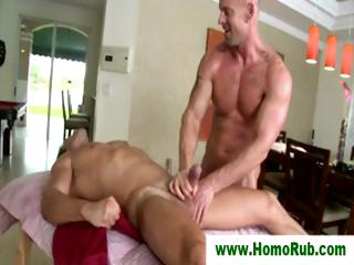 Straight guy milked report register rub down