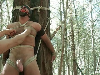 Romp Gods Dom Joshing West Gets Edged Deep to the Woods