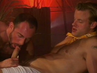 Hairy muscled blissful daddy riding huge unused stump throbbing dong