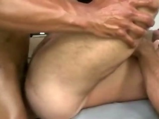 Straight client assfucks and jizzes uncaring masseur