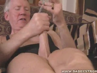 Nasty grandpa solo fetish microphone withdraw