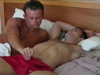 Marketable gay blot out wakes up chubby dick with staggering blowjob