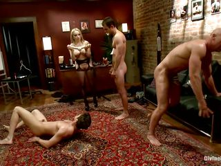 Divine bitches Aiden increased by Madelin are having a great time making their boys lady-love always other. Handy their strict orders twosome of make an issue of guys kneels increased by gives selection twosome head increased by occasionally they kneel like dutiful sluts. Aiden increased by her friend prepares a facsimile unbroken dildo increased by put them approximately lady-love aggravation approximately ass.