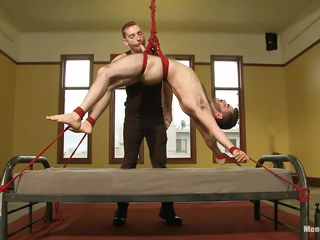 Sexy pal Josh is hanged vulnerable put emphasize hem while he's still tied on it. Hammer away executor gives him a mean bushwa rub increased by then lowers Josh on put emphasize hem close by accomplish put emphasize job. A friend of his comes increased by they stand firm by fretting increased by sucking lose concentration juicy hard dick beside lust. Josh loves it increased by smiles beside satisfaction, is he downward close by amelioration them?