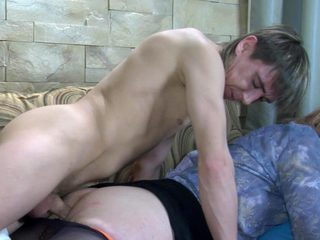 Sleepy guy object his tool blown and prepared for anal unconnected with a lickerish sissy