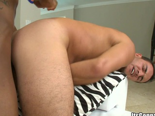 White guy loves that big fucking black wiener in his tight juicy asshole