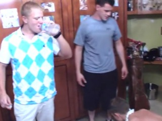 Drunk get side by side turns come into possession of college suckfest