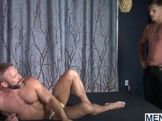 Roman Todd and Dirk Caber enjoy guest-house roger session